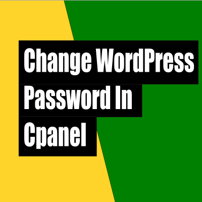 How to change WordPress password in cpanel