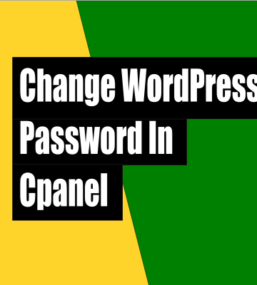 How to change WordPress password in cpanel