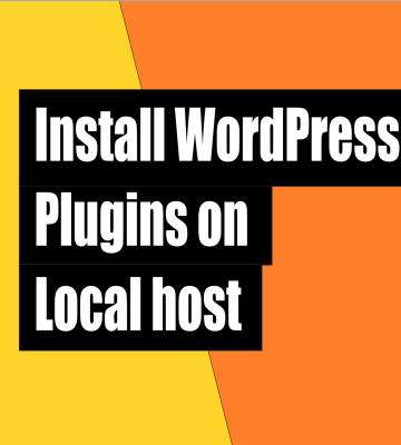 How to install wordpress plugins on localhost