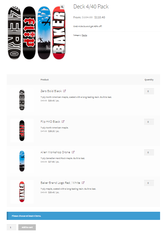 How to create product bundles in woocommerce