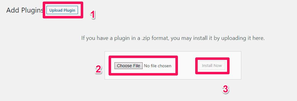 install a plugin in wordpress 3
