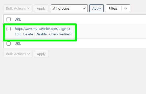 wordpress redirect page to external url